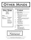 Other Minds Magazine Issue 1 published!